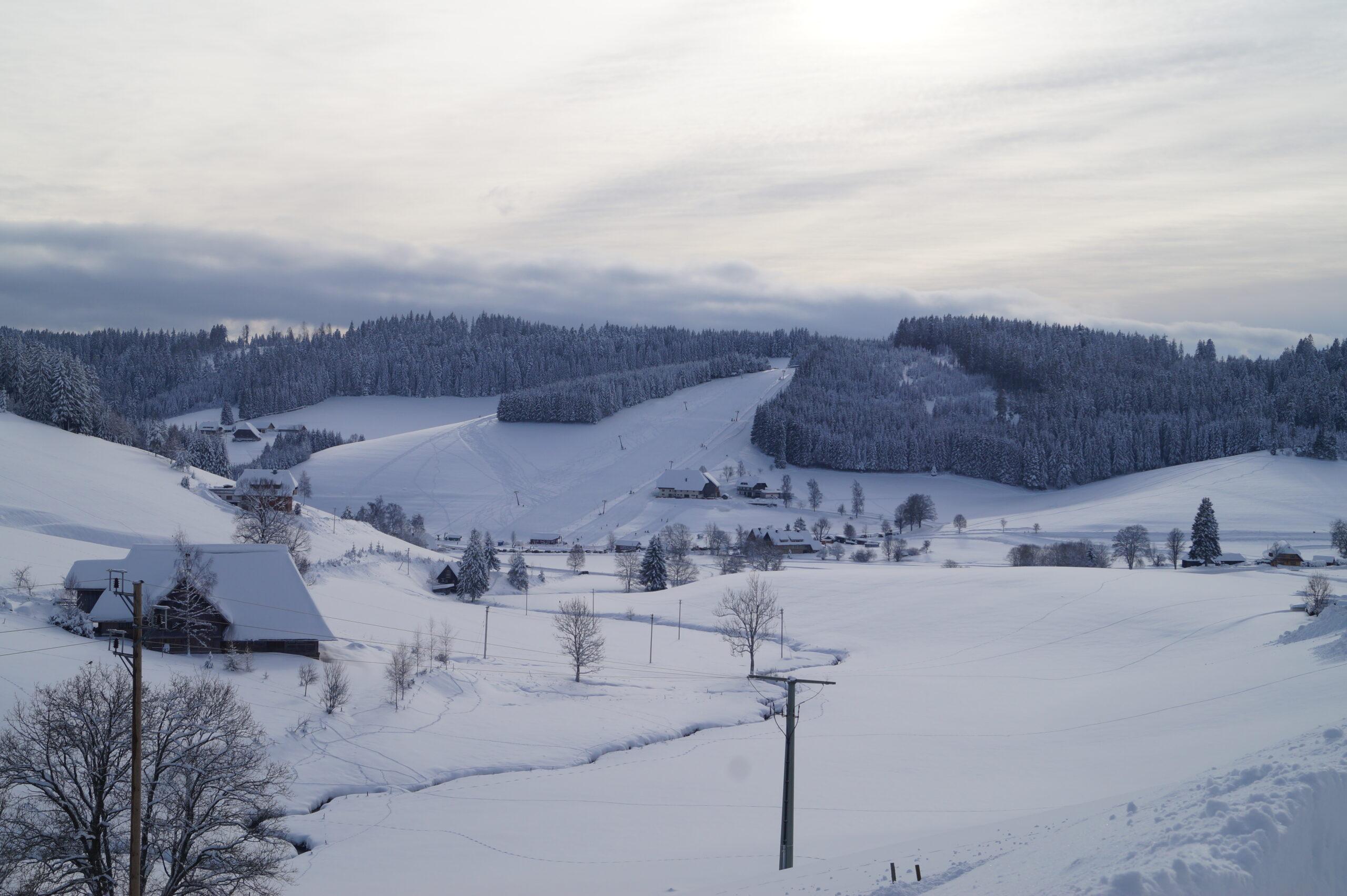 Blick auf den Skilift